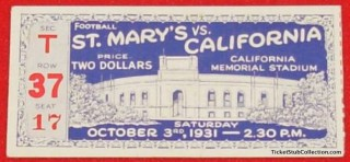 1931 NCAAF St. Mary's at Stanford