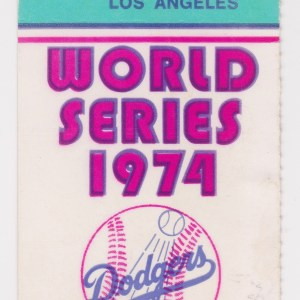 1974 World Series Game 1 ticket Athletics at Dodgers