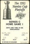 1993 Conference Finals Game 1 ticket stub Maple Leafs vs Kings