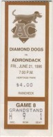 1997 Albany Colonie Diamond Dogs ticket stub vs Adirondack