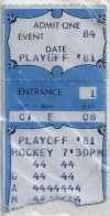 1981 AHL Adirondack Red Wings Playoff ticket stub vs Hershey