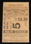 1926 World Series Game 5 Ticket Stub Yankees at Cardinals