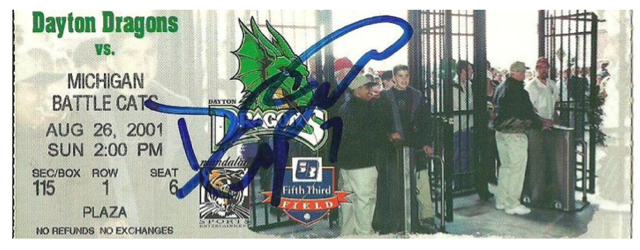 2001 Dayton Dragons ticket stub vs Michigan