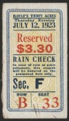 1923 Boxing Firpo vs Willard ticket stub