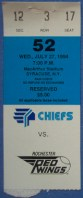 1994 Syracuse Chiefs ticket stub vs Rochester