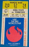 1982 NCAAF IOWA STATE at TENNESSEE