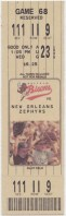 1995 Buffalo Bisons ticket stub vs New Orleans Zephyrs