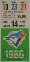 1986 Tigers at Blue Jays