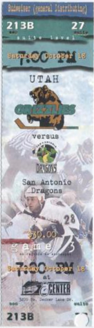 1997 IHL Dragons at Grizzlies