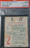 1918 World Series Game 2 Ticket Stub Red Sox at Cubs