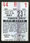 1975 Richmond Braves ticket stub