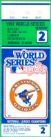 1983 World Series Game 2 ticket stub Phillies at Orioles