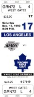 1993 Kings at Maple Leafs