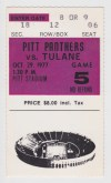 1977 NCAAF Tulane at Pittsburgh