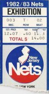 1982 NJ Nets v NY Knicks exhibition