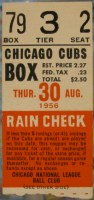 1956 MLB Brooklyn Dodgers at Chicago Cubs