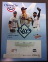 2013 MLB Orioles at Rays ticket stub