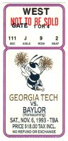 1993 NCAAF Baylor at Georgia Tech