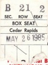 1985 Cedar Rapids Reds ticket stub