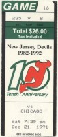 1991 NHL Chicago Blackhawks at New Jersey Devils