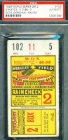 1929 World Series Game 2 Ticket Stub Athletics at Cubs