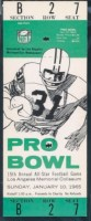 1965 Pro Bowl Full Ticket Tarkenton MVP