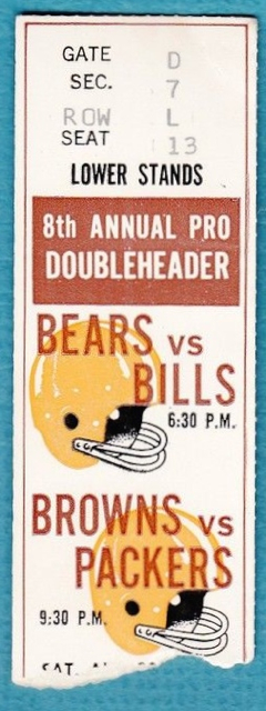 1969 Bears vs Bills and Packers at Browns Cleveland Stadium ticket stub.jpg