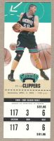 2001 NBA Los Angeles Clippers at Vancouver Grizzlies ticket stub