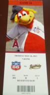 2011 Inland Empire 66ers ticket stub vs Visalia Rawhide