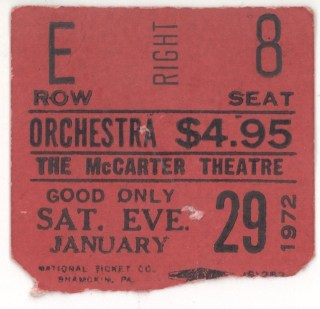 1972 Don McLean ticket stub National Ticket
