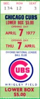 1977 Mets at Cubs Opening Day
