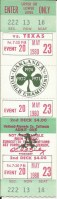 1980 Rangers at A's full ticket