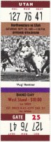 1981 NCAAF Utah at Northwestern ticket stub
