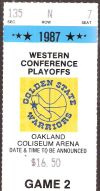 1987 NBA Playoffs Utah Jazz at Golden State Warriors