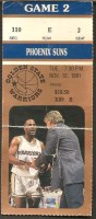 1991 NBA Phoenix Suns at Golden State Warriors ticket stub