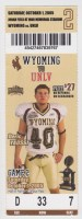 2005 NCAAF Wyoming ticket stub vs UNLV