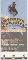 2006 NCAAF Wyoming ticket stub vs Boise State