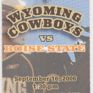 2006 NCAAF Wyoming ticket stub vs Boise State for sale