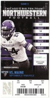 2013 NCAAF Maine at Northwestern ticket stub