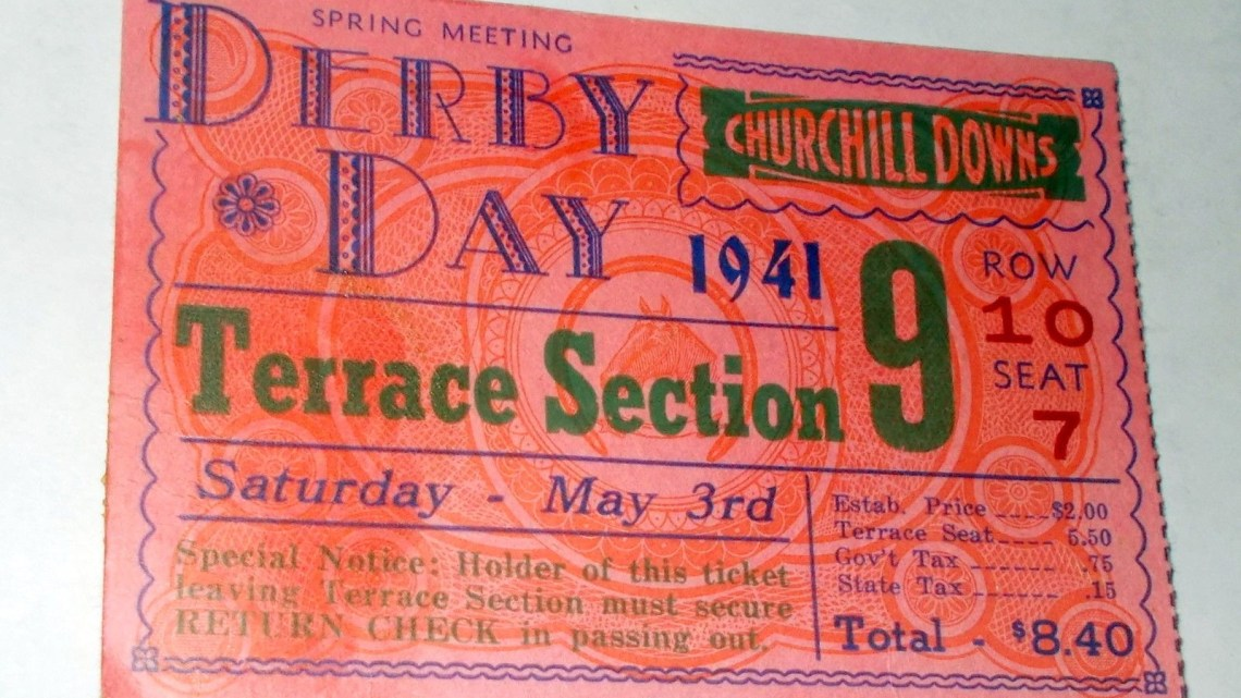 1941 Kentucky Derby Ticket Stub