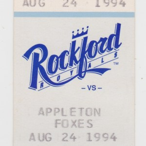 1994 Rockford Royals ticket stub vs Appleton Foxes for sale