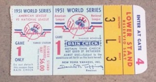 1951 World Series Game 1 Giants at Yankees 174