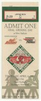 1995 Red Barons at Red Wings ticket stub