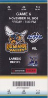 2006 CHL Rio Grande Valley Killer Bees ticket stub vs Laredo