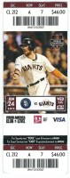 2015 MLB Padres at Giants Buster Posey Grand Slam ticket stub