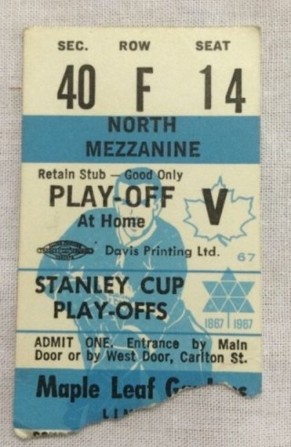 1967 Toronto Maple Leafs Stanley Cup Playoff 41.75