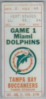1976 NFL Dolphins at Buccaneers