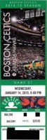 2015 NBA Hawks at Celtics ticket stub