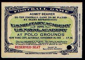 1925 NCAAF Army vs Navy at NY Polo grounds