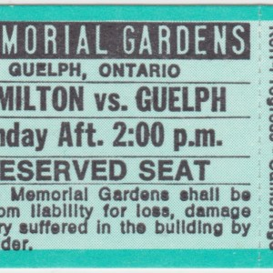 1985 OHL Guelph Platers unused ticket vs Hamilton